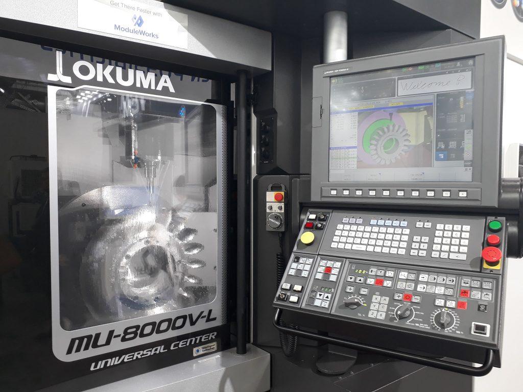 prelucrări prin aşchiere CNC - Turbina Pelton prelucrată de centrul vertical OKUMA MU-8000V-L