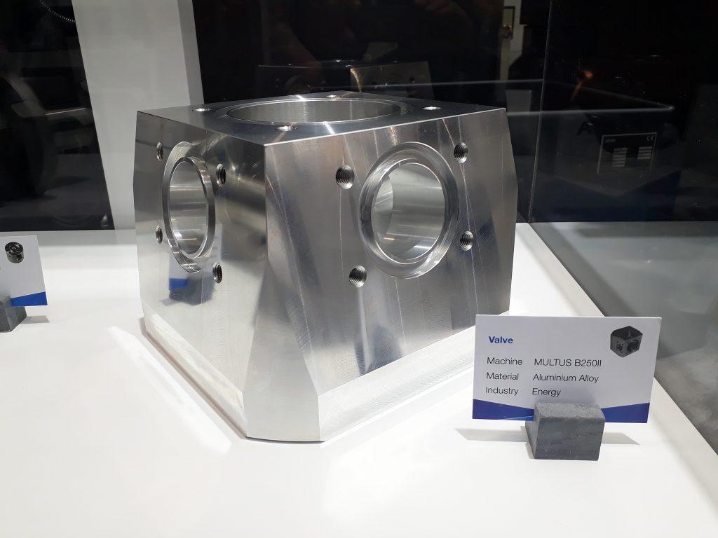 Piesă demo prelucrare pe strunguri  CNC orizontale multifuncționale Okuma - Multus B250II