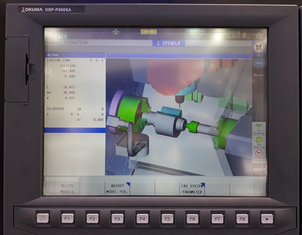 Simulare CAM prelucrare strung multifuncțional Okuma Multus B250II