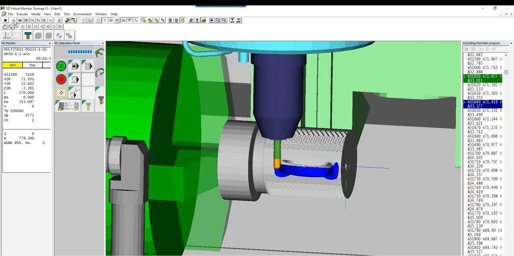 Simulare prelucrare CNC Okuma