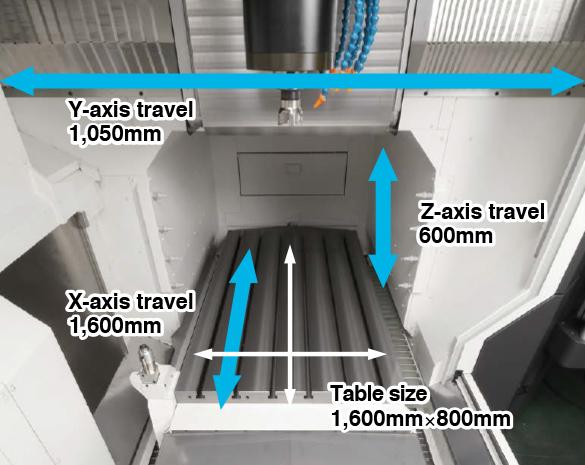 Dimensiuni masă - Centru prelucrare CNC vertical Okuma MB-80V
