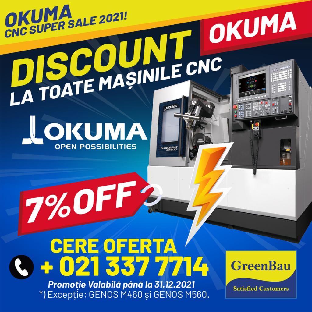 Ofertă Specială CNC Okuma Super Sale 2021! Discount 7%
