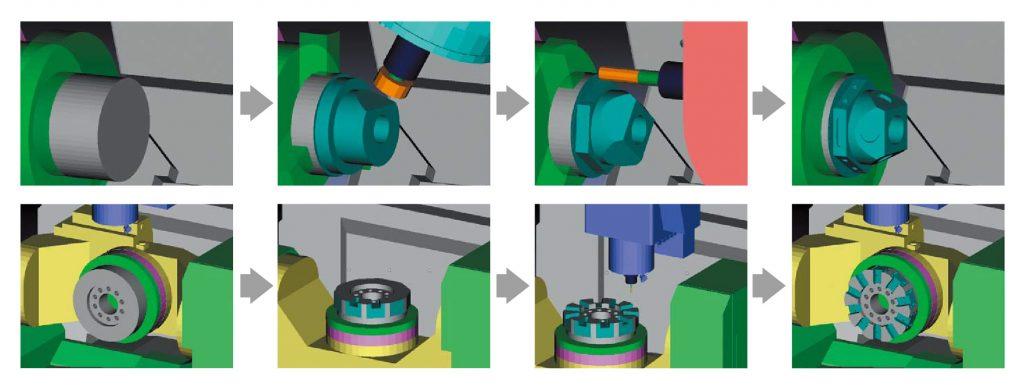 Simulare precisă a procesului de prelucrare - Sistem anti-coliziune mașini CNC