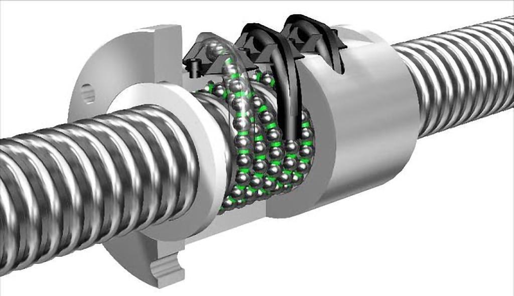 prelucrări prin aşchiere CNC - Șurubul cu bile oferă precizie în ghidajele liniare